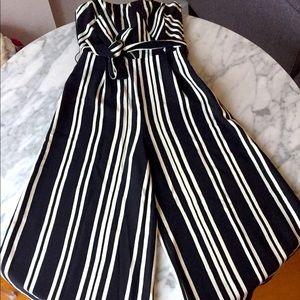 Striped formal jumpsuit
